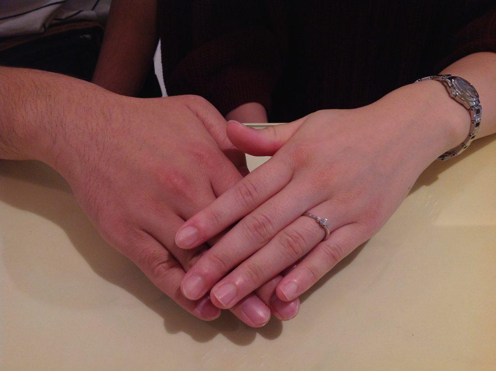 プティの婚約指輪をお作り頂きました。