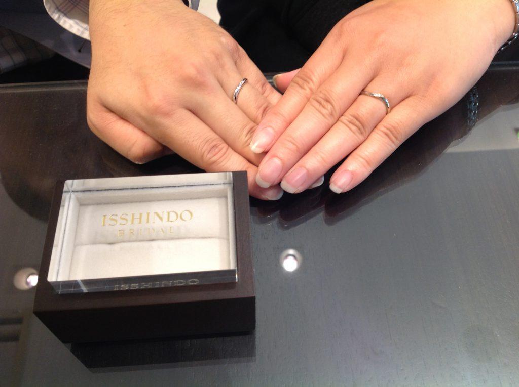 プティの結婚指輪をお作り頂きました。