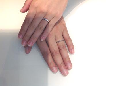 ロイヤルアッシャーの結婚指輪をお作り頂きました