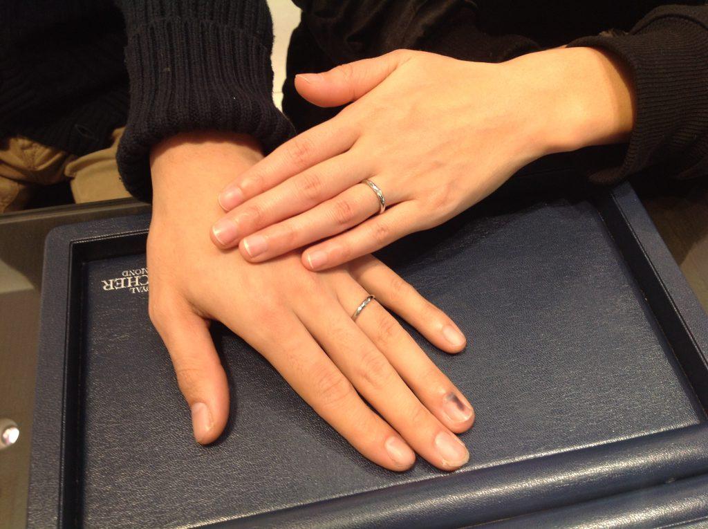 ロイヤルアッシャーの結婚指輪をお作り頂きました。