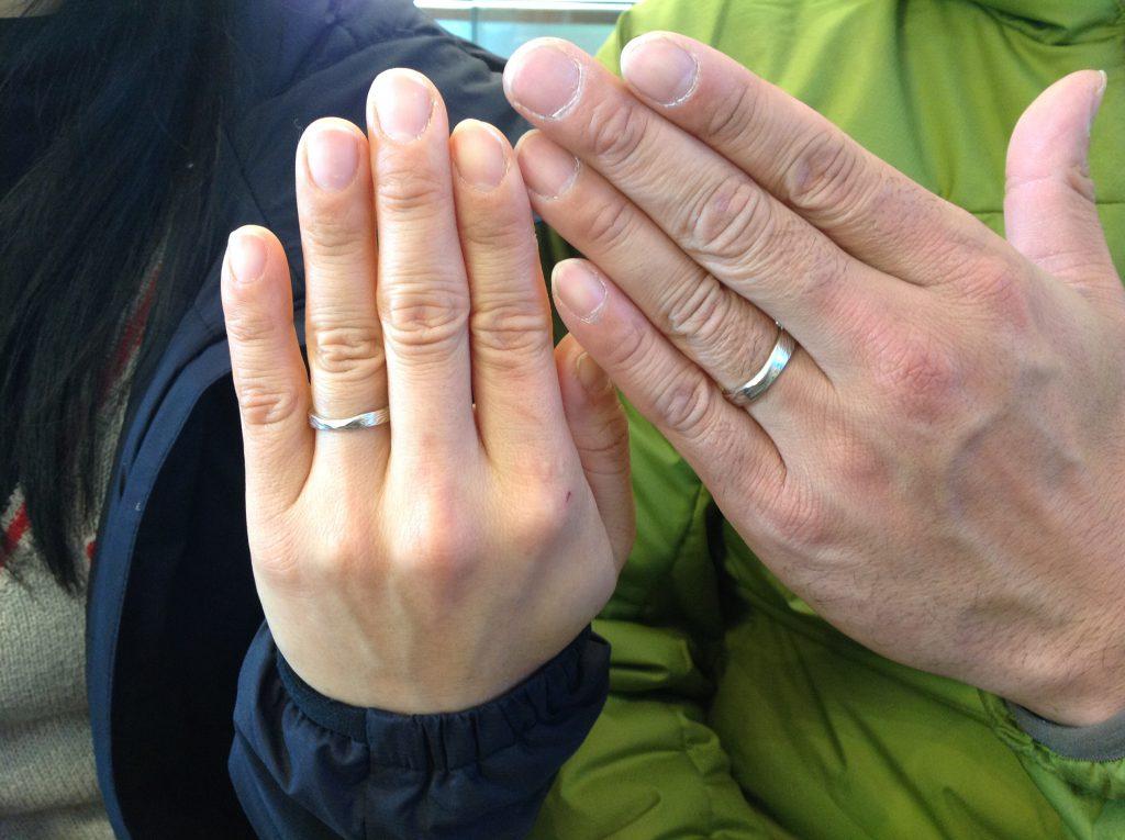 杢目金屋の結婚指輪をお作り頂きました。