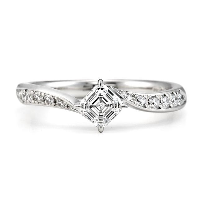 AC012|ロイヤルアッシャー婚約指輪