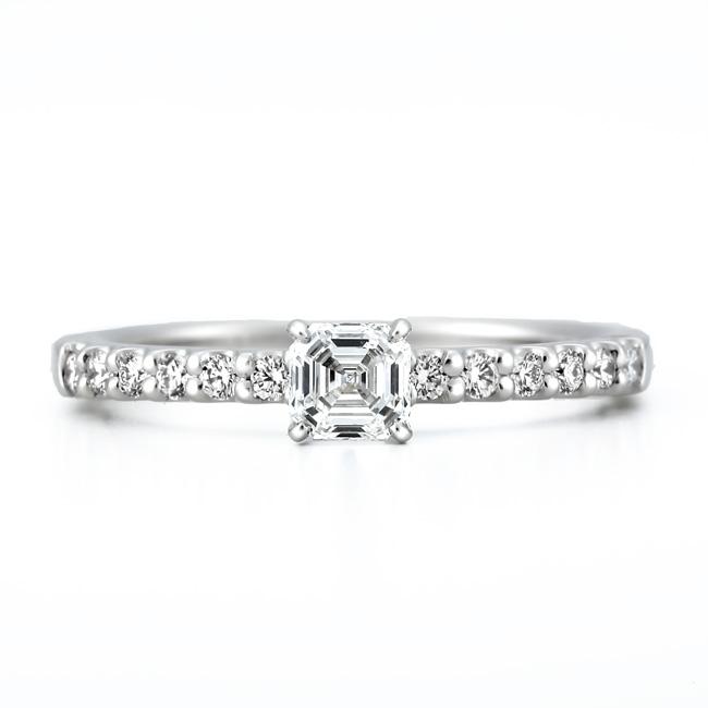 AC020|ロイヤルアッシャー婚約指輪