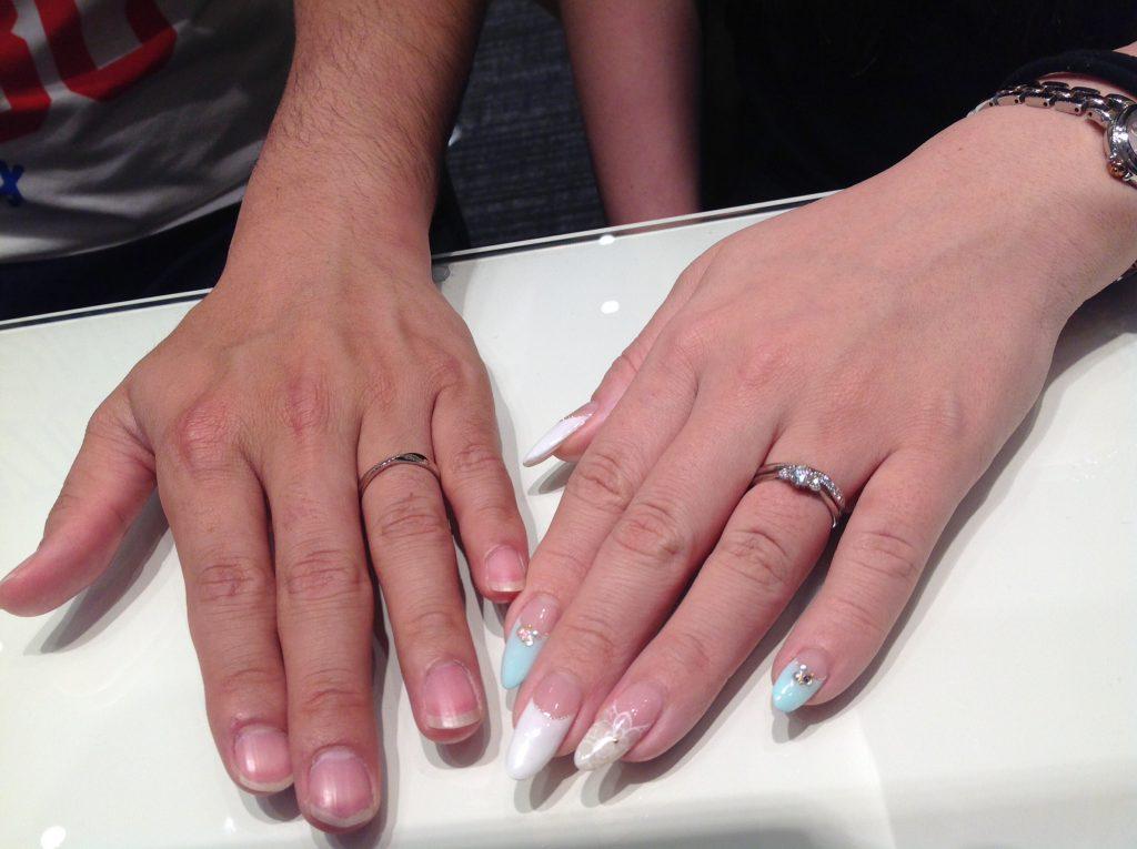 Disney Cinderella(ディズニーシンデレラ)の婚約指輪・ROYAL ASSCHER(ロイヤルアッシャー)の結婚指輪をお作り頂きました。