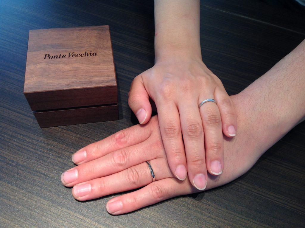 PonteVecchio(ポンテヴェキオ)の結婚指輪をお作り頂きました。