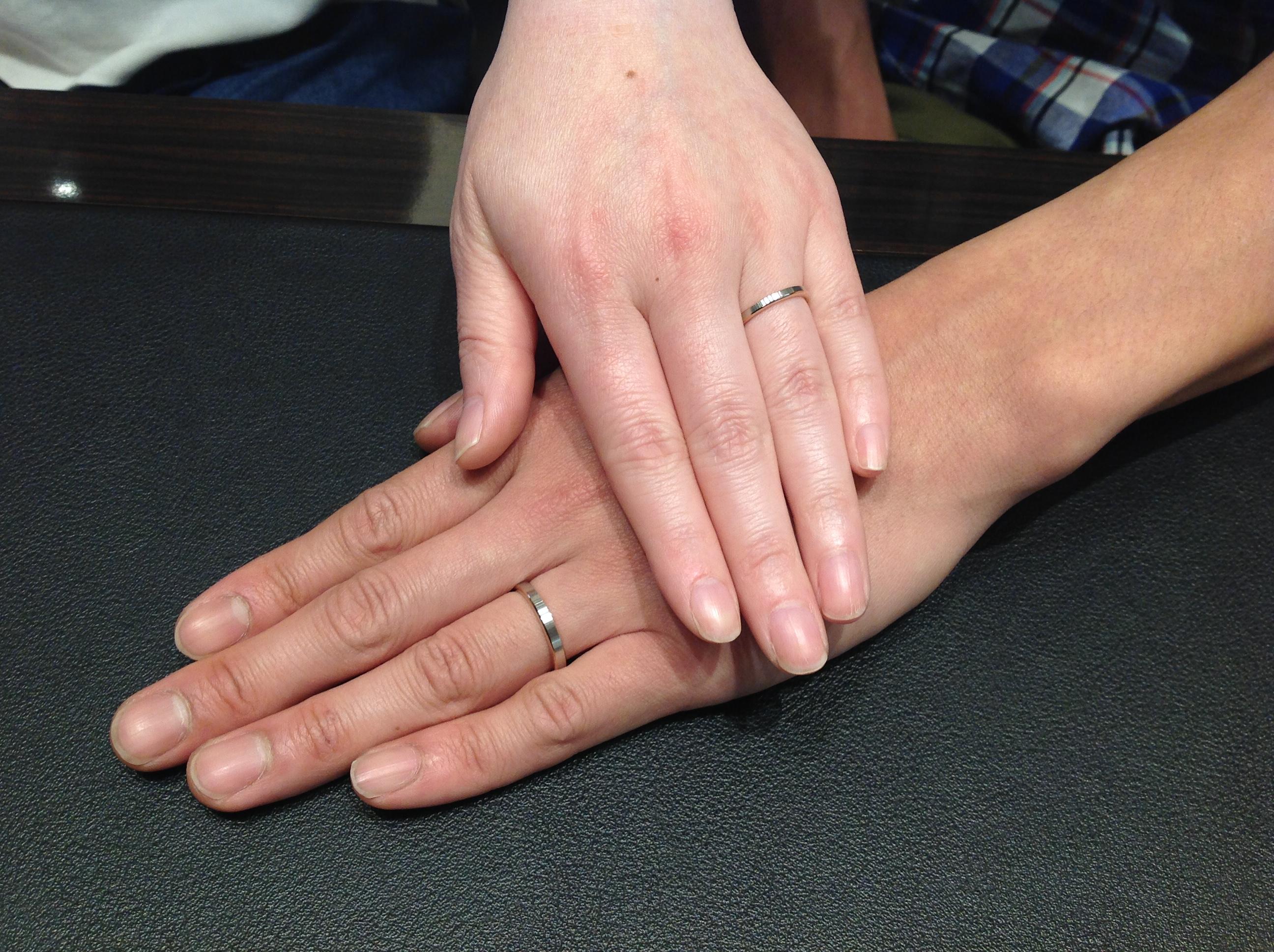 N.Y.NIWAKA(ニューヨークニワカ)の結婚指輪をお作り頂きました。