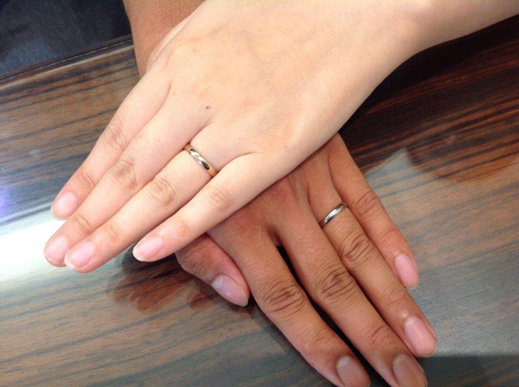 NIWAKA(ニワカ)の結婚指輪をお作り頂きました。