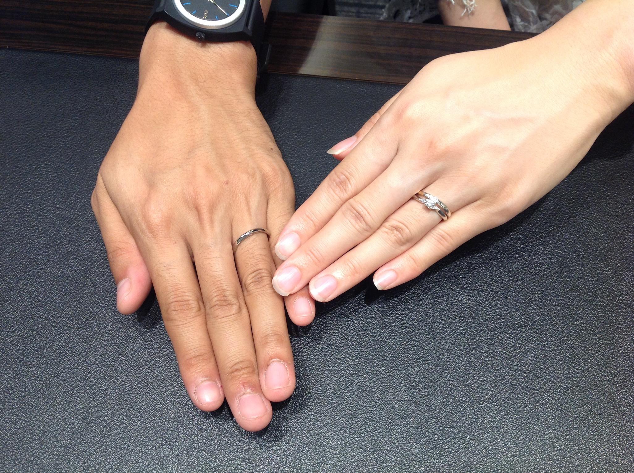 NIWAKAの結婚指輪をお作り頂きました。