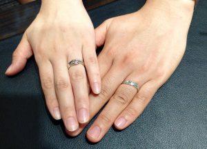 NIWAKAの結婚指輪・婚約指輪をお作り頂きました。