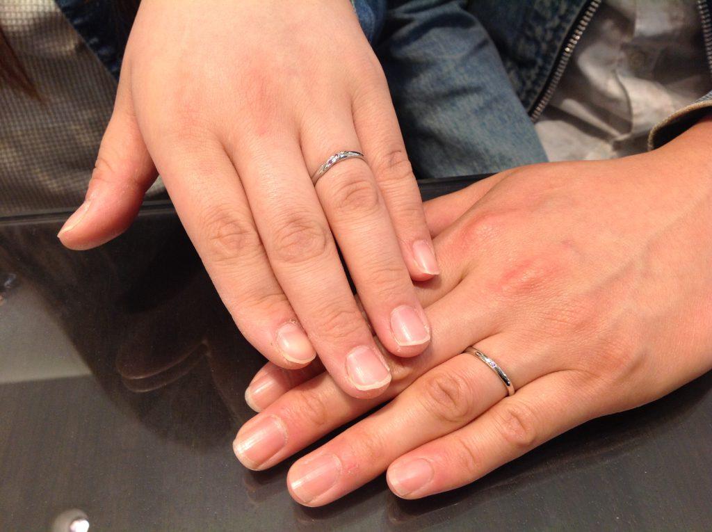 MILK&STRAWBERRY(ミルク&ストロベリー)の結婚指輪をお作り頂きました。