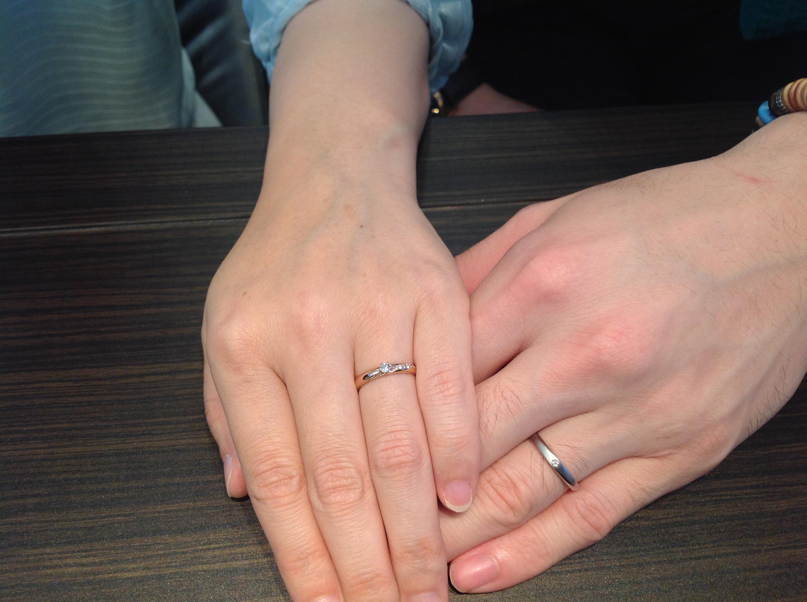 Wish upon a star(ウィッシュアポンアスター)の結婚指輪(マリッジリング)をお作り頂きました