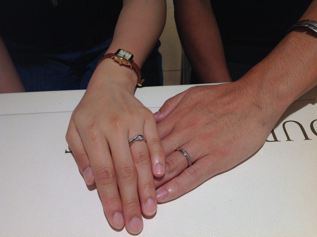 ミルク&ストロベリーの結婚指輪をお作り頂きました