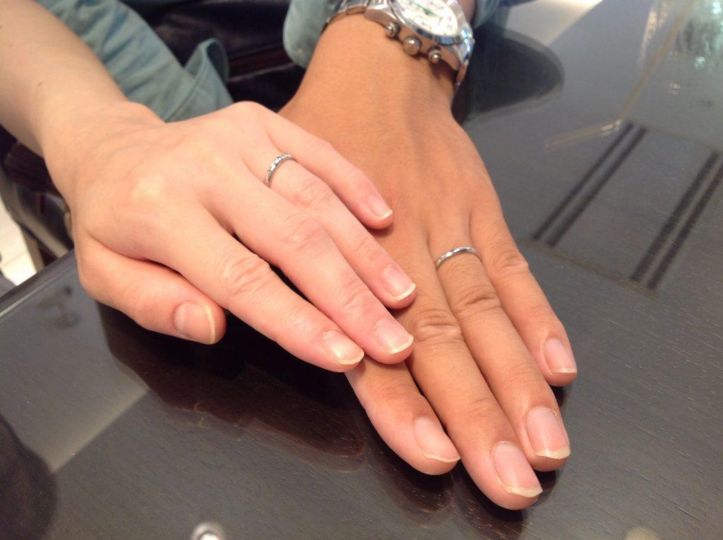 ロイヤルアッシャーの結婚指輪(マリッジリング)をお作り頂きました