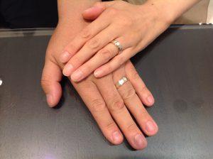 杢目金屋の結婚指輪(マリッジリング)をお作り頂きました