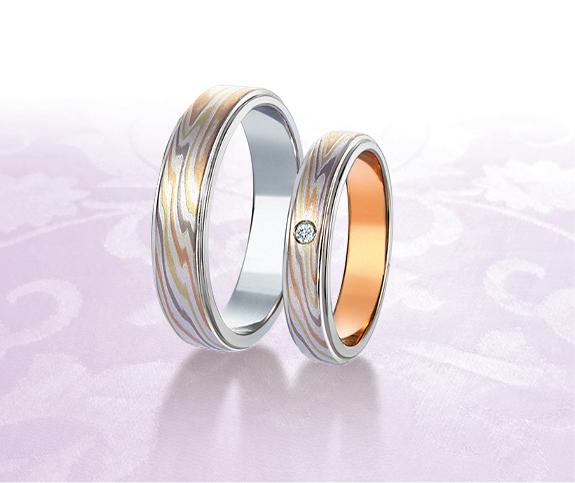 杢目金屋の結婚指輪(マリッジリング)をお作り頂きました。