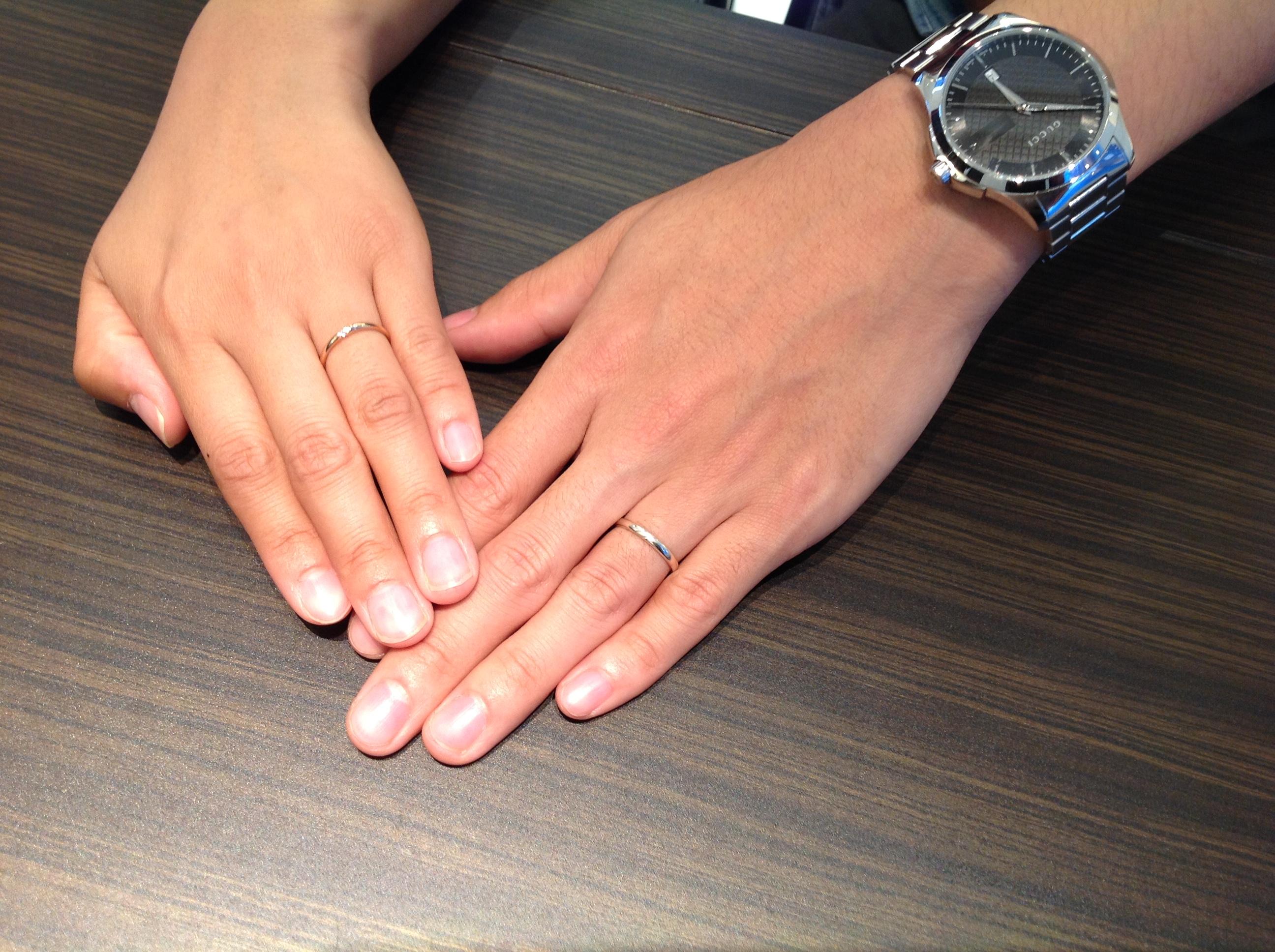 アンクオーレの結婚指輪をお作り頂きました。