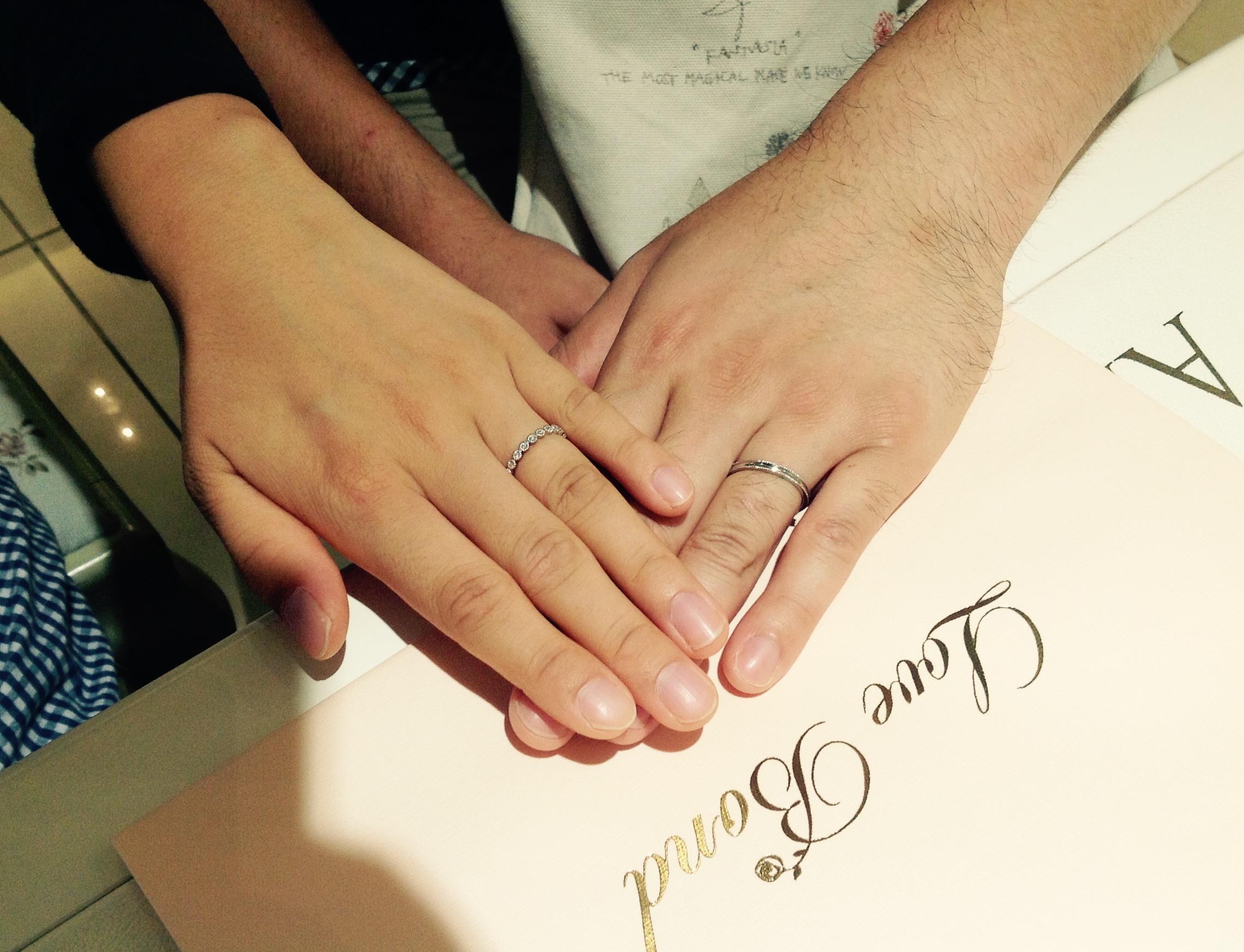 LoveBond(ラブボンド)の結婚指輪をお作り頂きました。