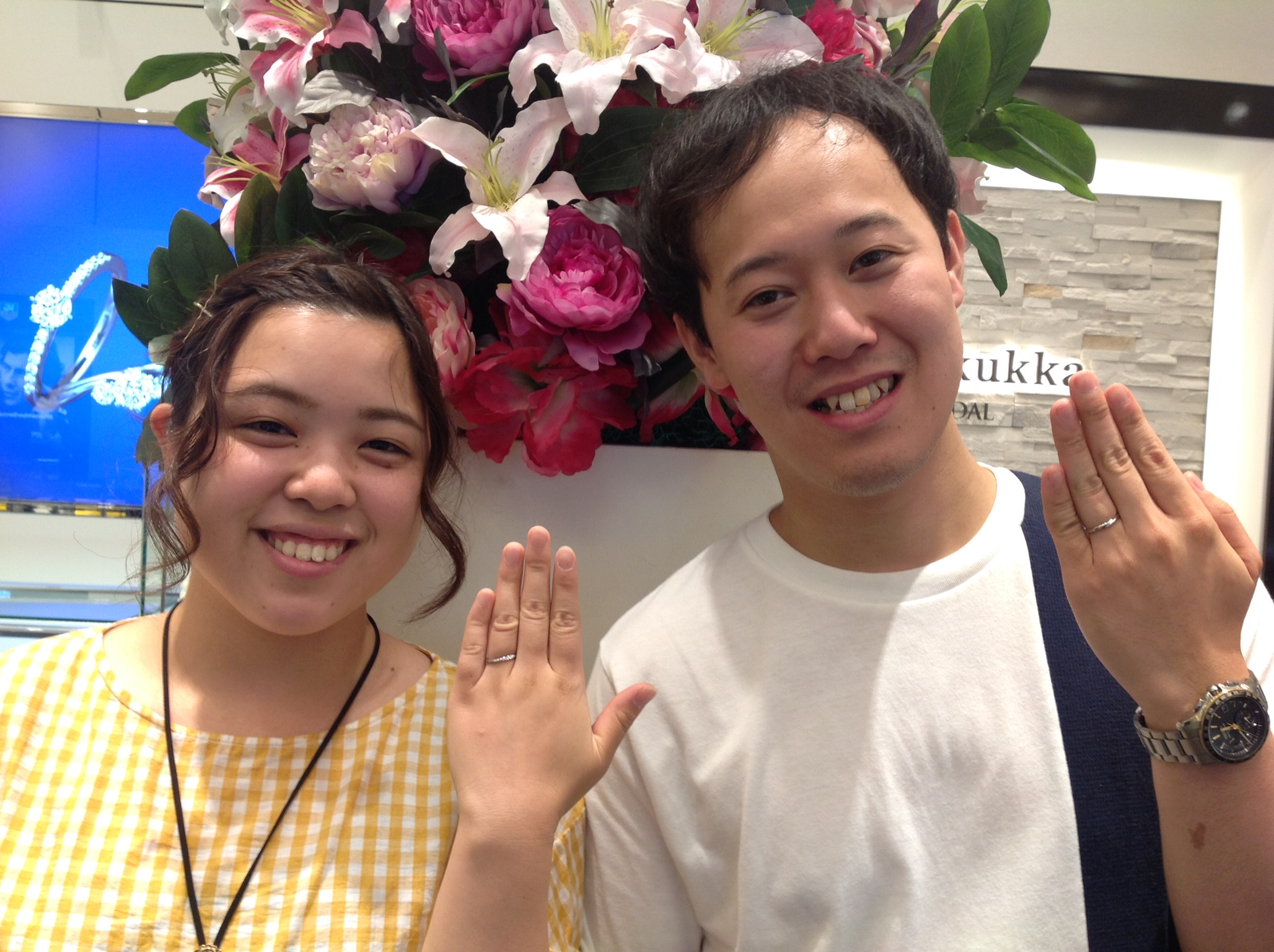 CafeRing(カフェリング)の結婚指輪をお作り頂きました。