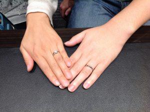 ロイヤルアッシャーの結婚指輪(マリッジリング)をお求め頂きました