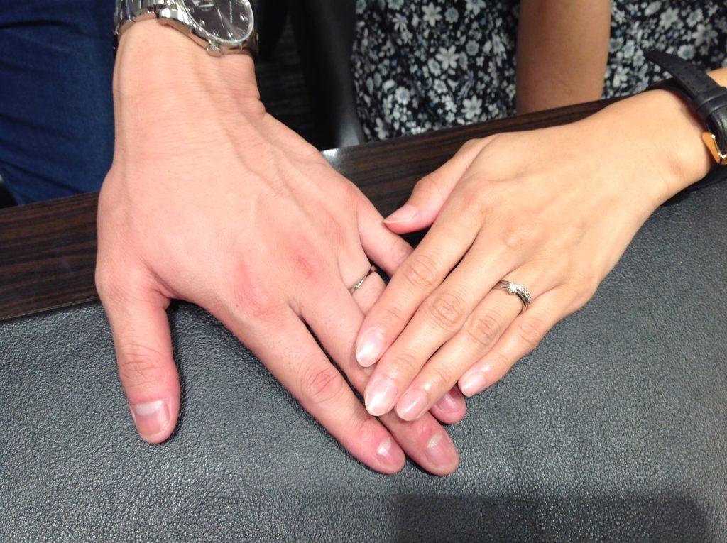 プルーブの結婚指輪(マリッジリング)をお求め頂きました