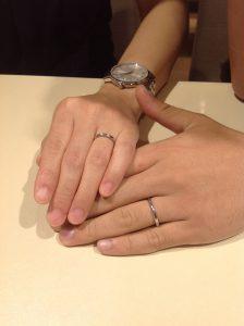 ゲスナーの結婚指輪(マリッジリング)をお作り頂きました