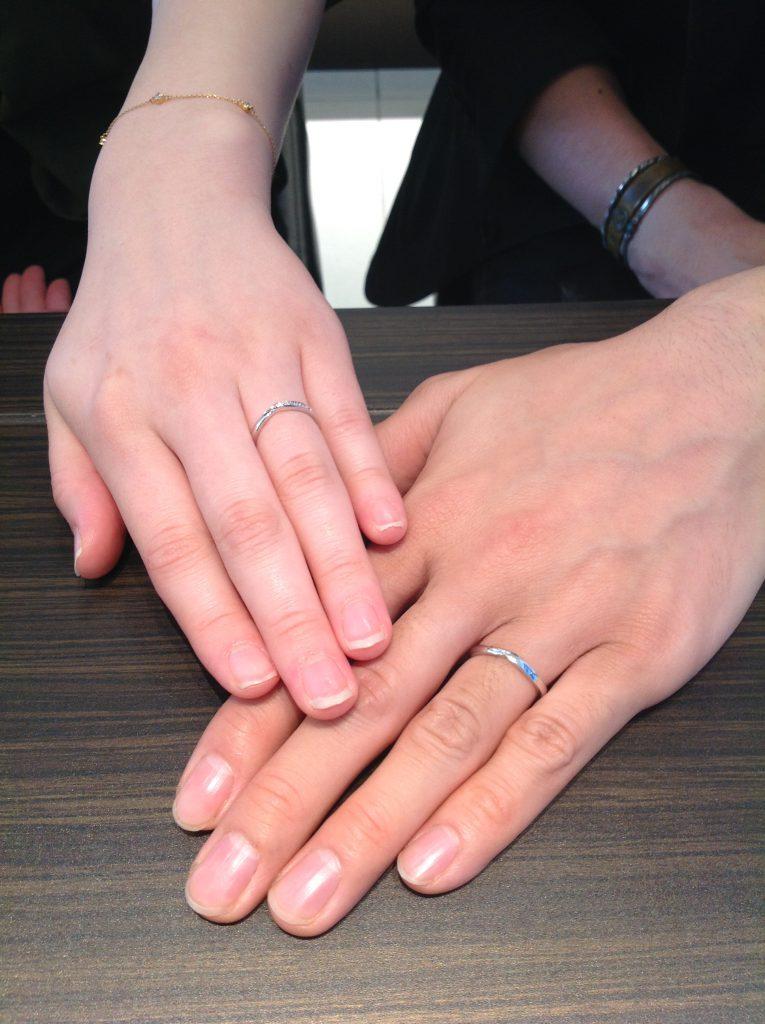 ポンテヴェキオの結婚指輪(マリッジリング)をお作りいただきました