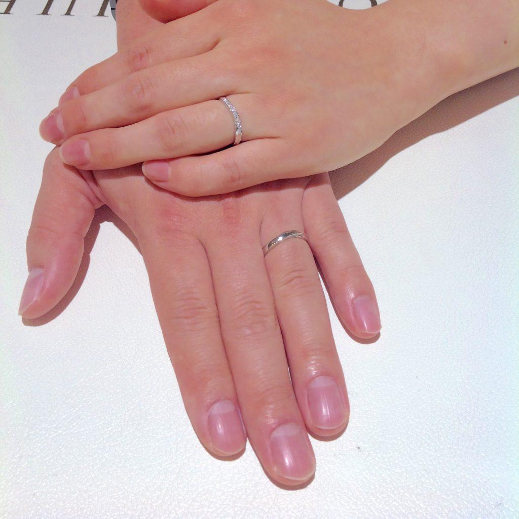 Cafe Ring(カフェリング)の結婚指輪(マリッジリング)をお作り頂きました