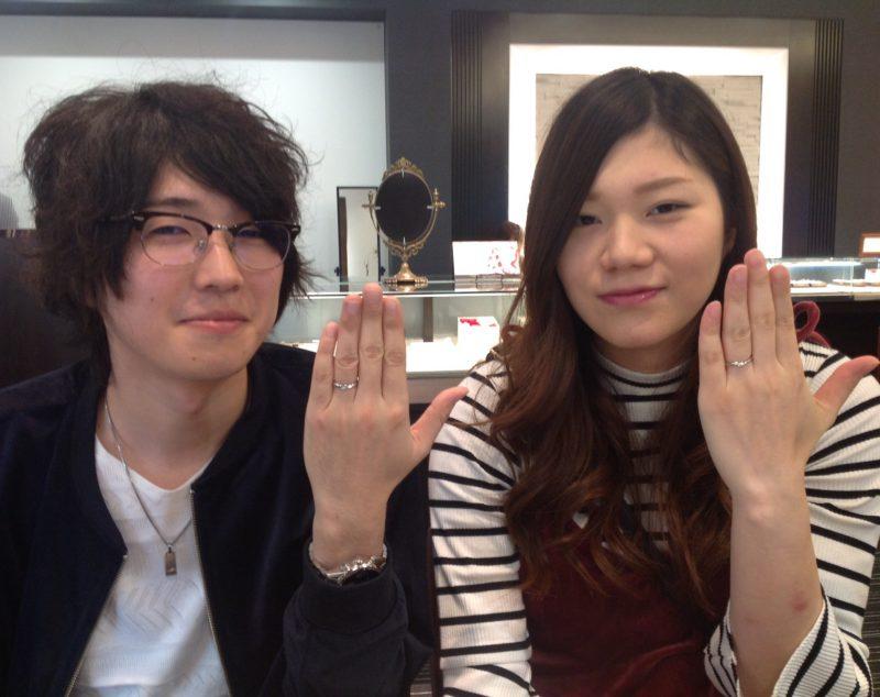 LUCIE(ルシエ)の結婚指輪(マリッジリング)をお作り頂きました