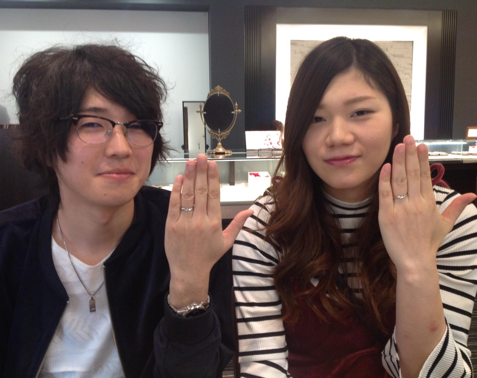LUCIE(ルシエ)の結婚指輪(マリッジリング)をお作り頂きました。