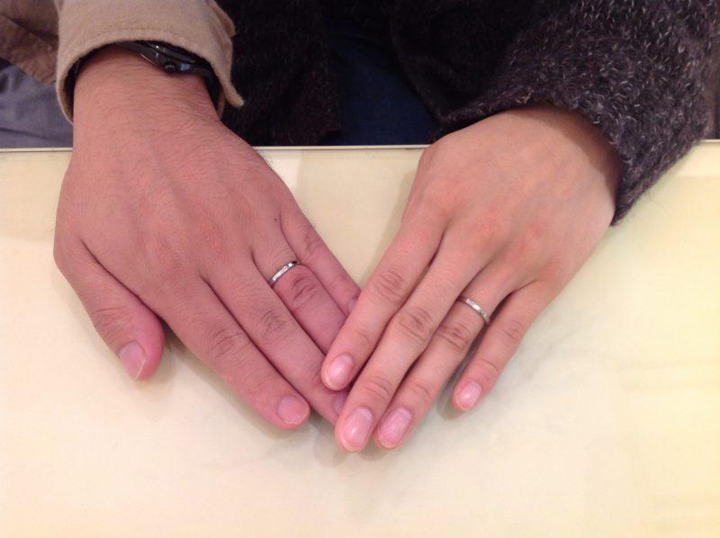 ポンテヴェキオの結婚指輪(マリッジリング)をお作り頂きました。