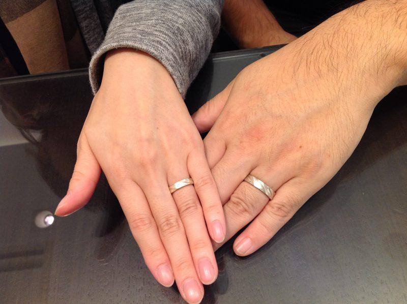 杢目金屋(もくめがねや)の結婚指輪(マリッジリング)をお作り頂きました。