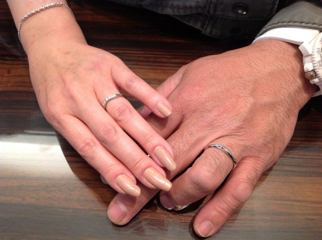 ロイヤルアッシャーの結婚指輪お作り頂きました