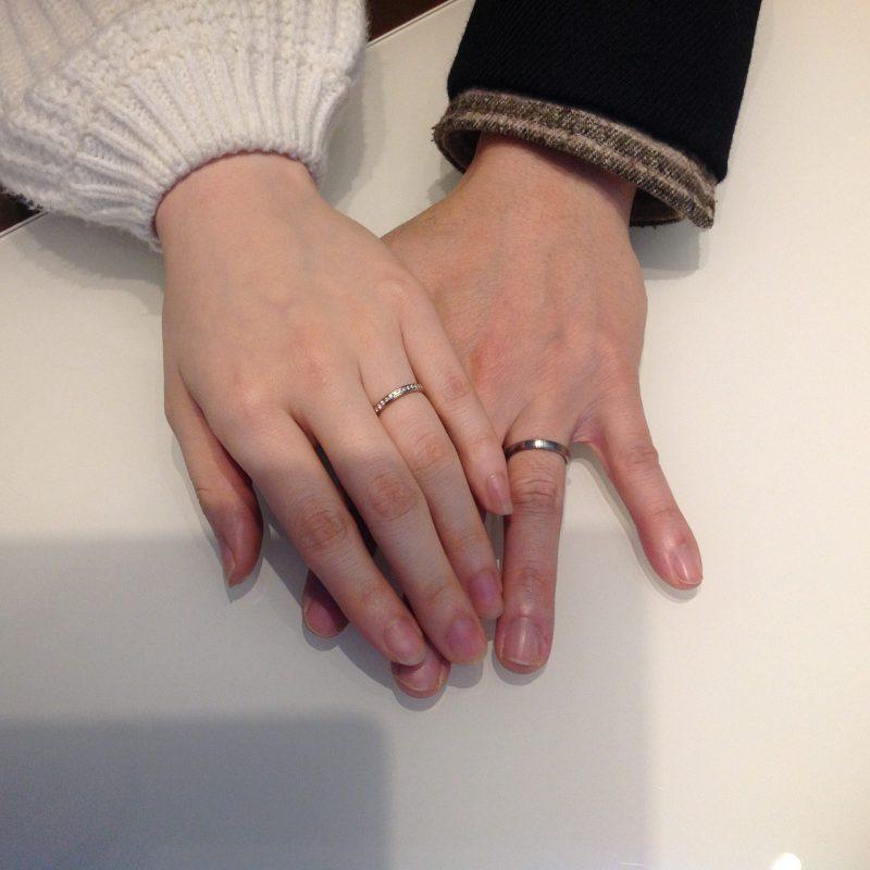NIWAKA(ニワカ)の結婚指輪(マリッジリング)をお作りいただきました。