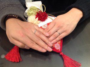 ポンテヴェキオのご結婚指輪をお作り頂きました