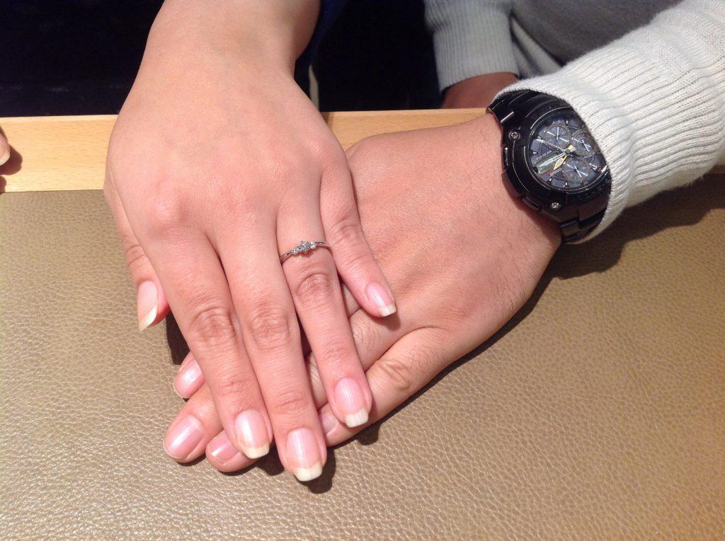 ロイヤルアッシャーのご婚約指輪をご納品致しました!