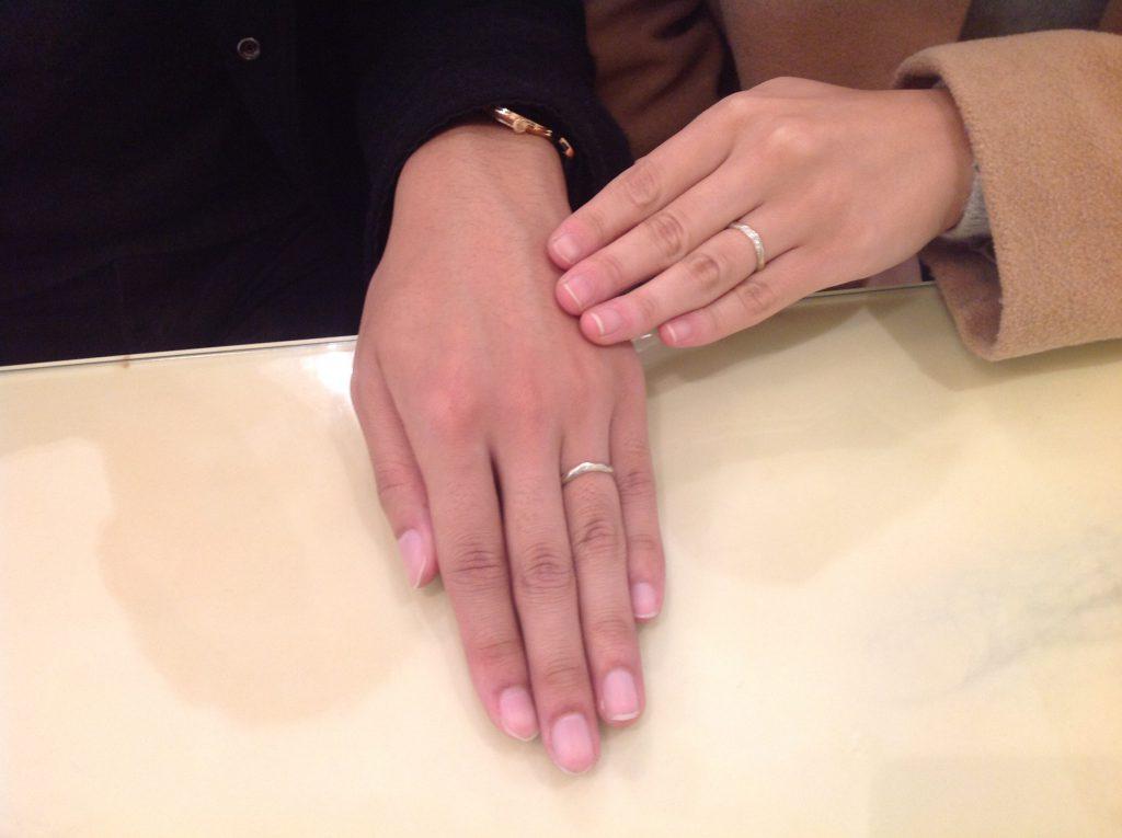 杢目金屋の結婚指輪をお作り頂きました