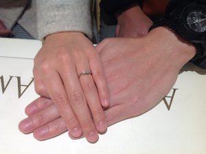 ロイヤルアッシャーの婚約指輪をお作り頂きました