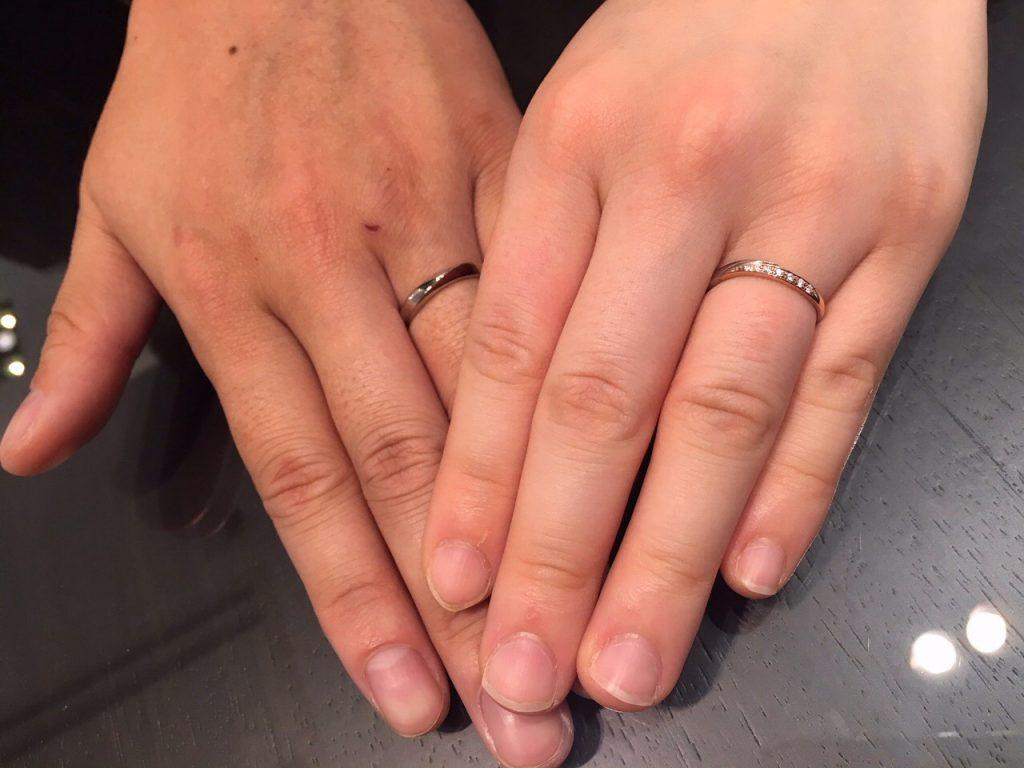 Cafe Ringとクアントマリアージュのご結婚指輪をお作り頂きました