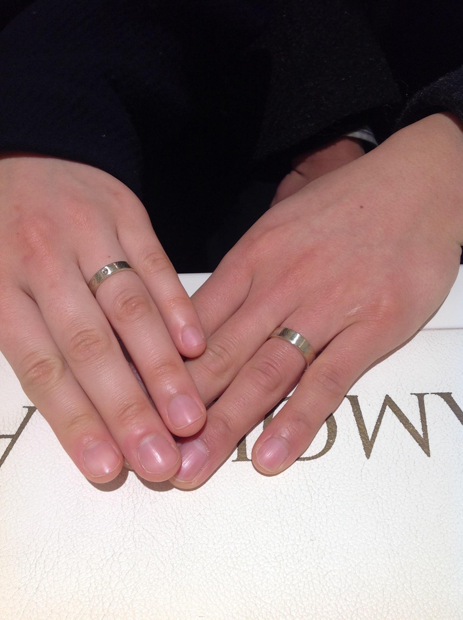 杢目金屋のご婚約指輪(エンゲージリング)をお作り頂きました!