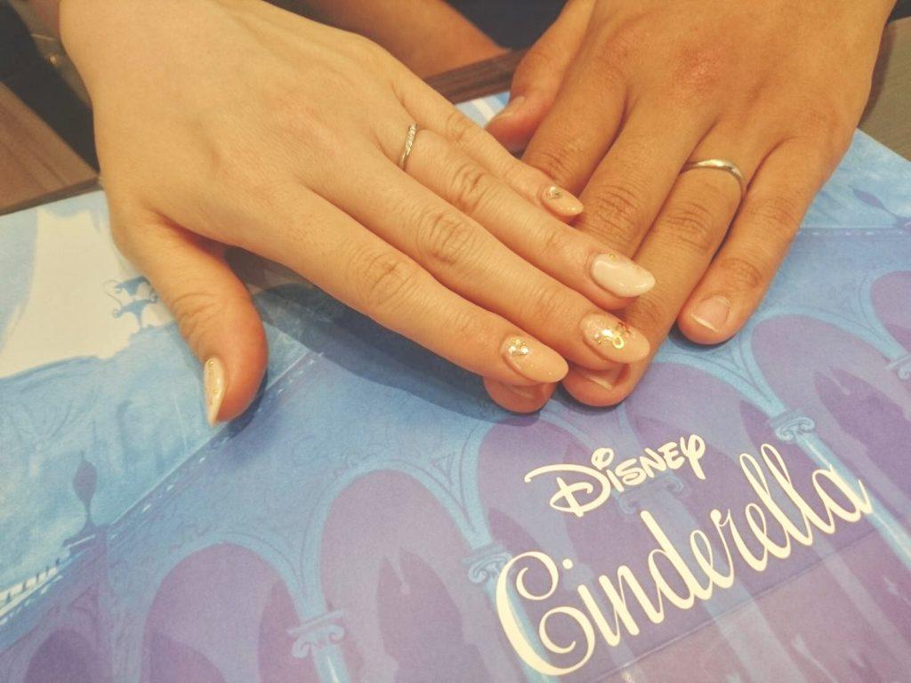 Disney Cinderella(ディズニーシンデレラ)の結婚指輪(マリッジリング)をお作り頂きました!