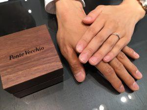 ポンテヴェキオの婚約指輪(エンゲージリング)をお作りいただきました