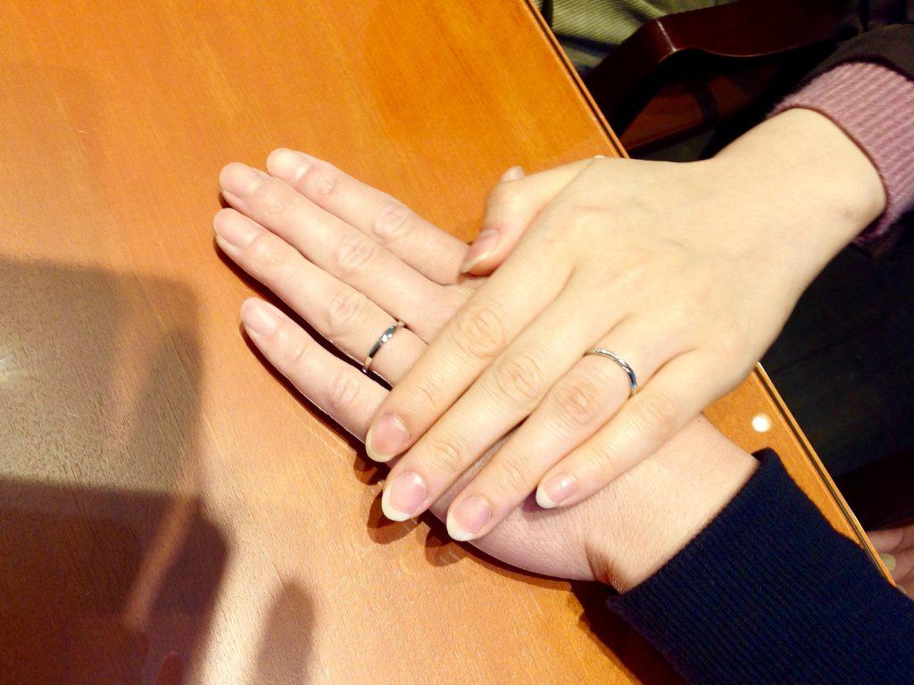 LUCIE(ルシエ)の結婚指輪をお作りいただきました。