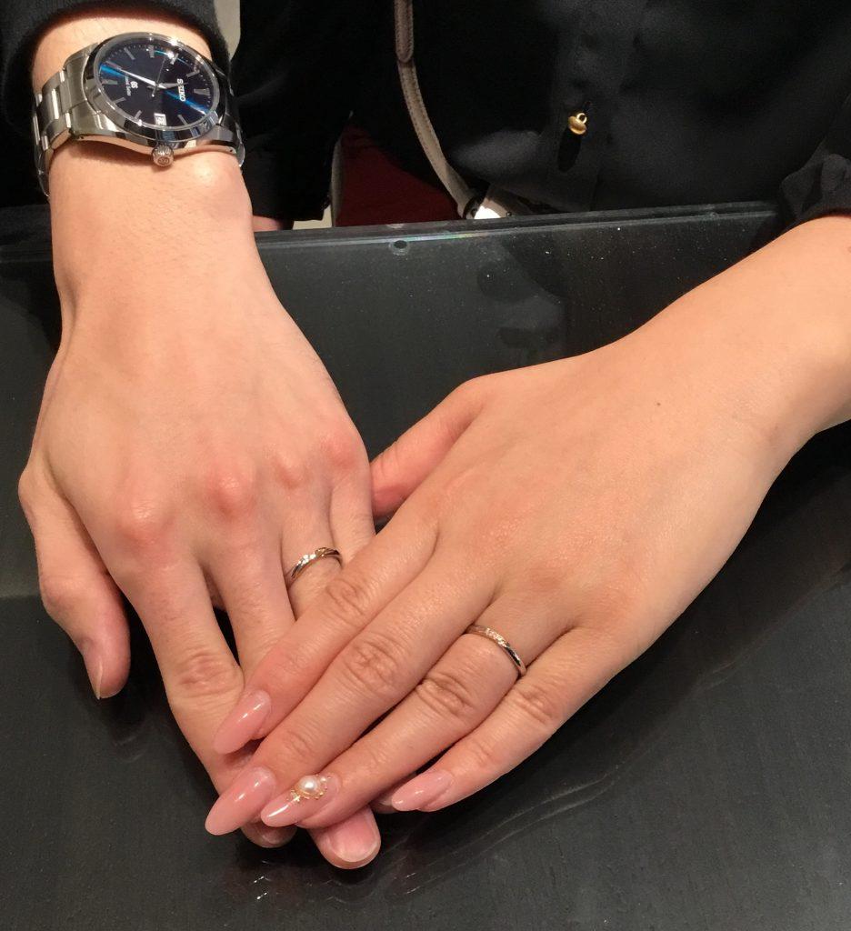 アムールアミュレットのご結婚指輪をご納品致しました