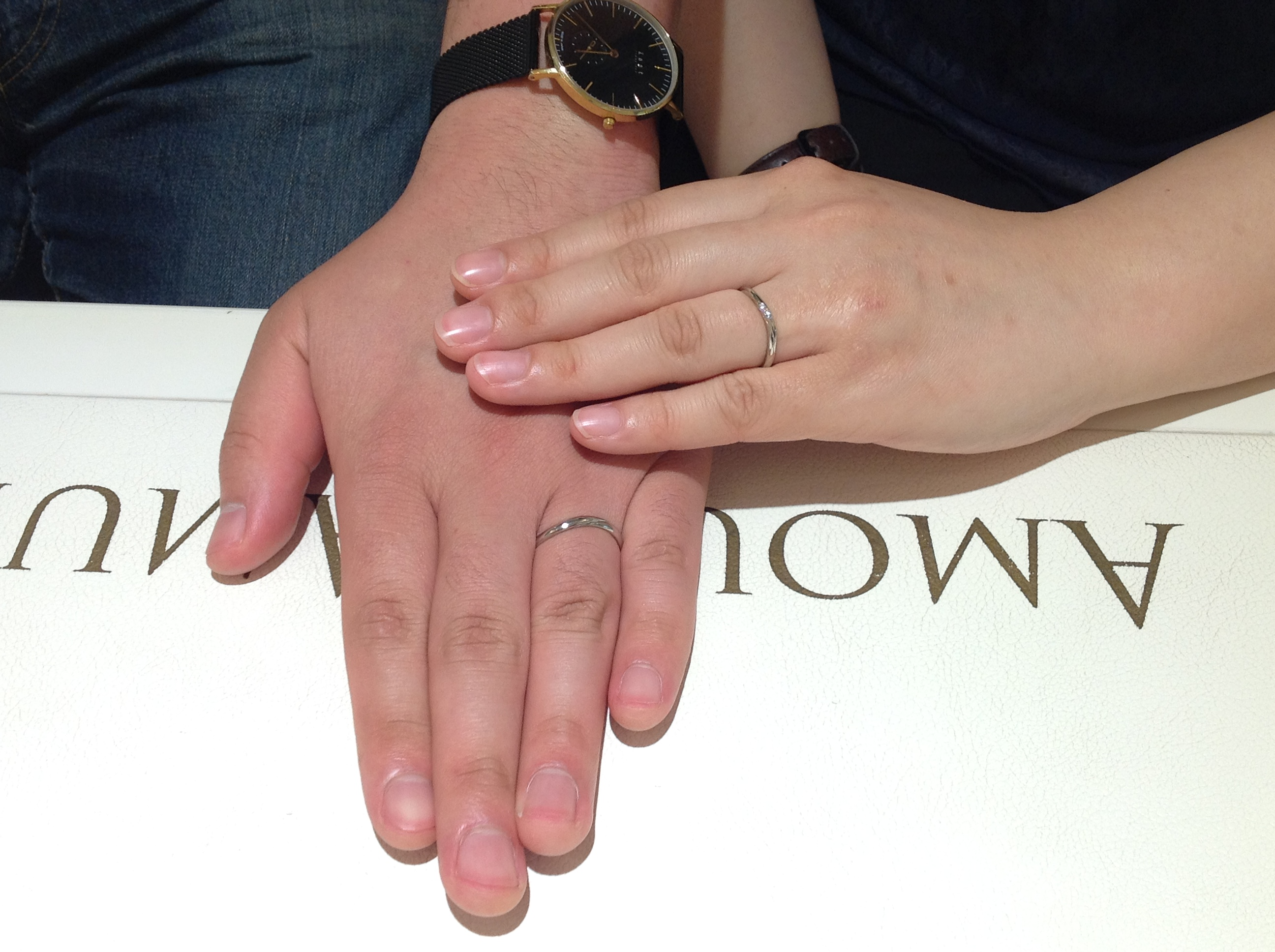 シンデレラのご結婚指輪をお作り頂きました!