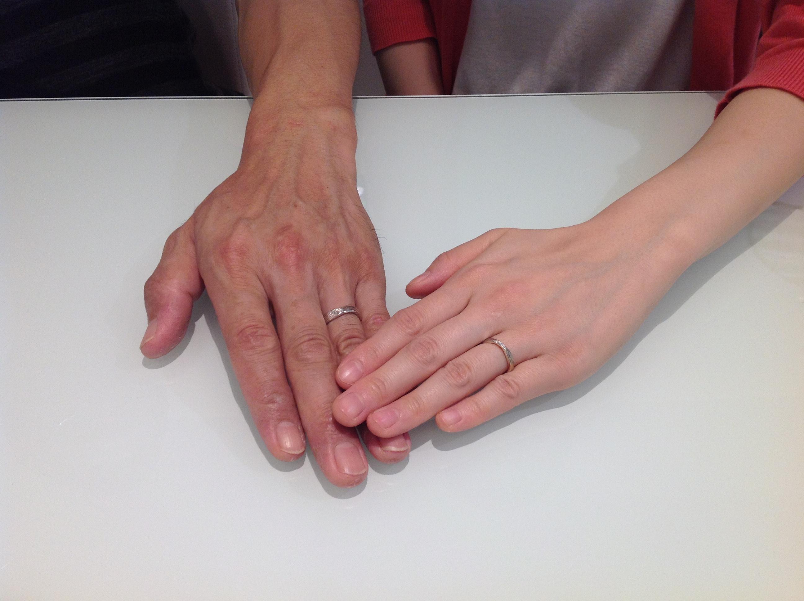 杢目金屋のご結婚指輪をお作り頂きました!