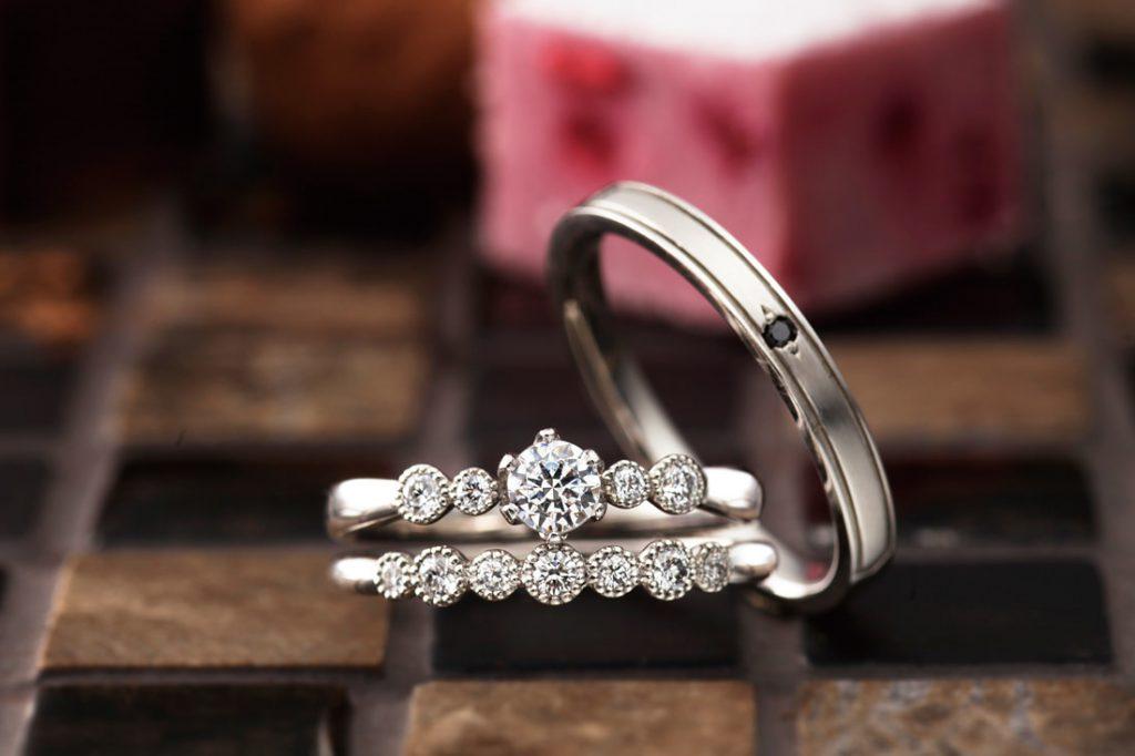 カフェリングとパヴェオショコラのご結婚指輪をお作り頂きました!