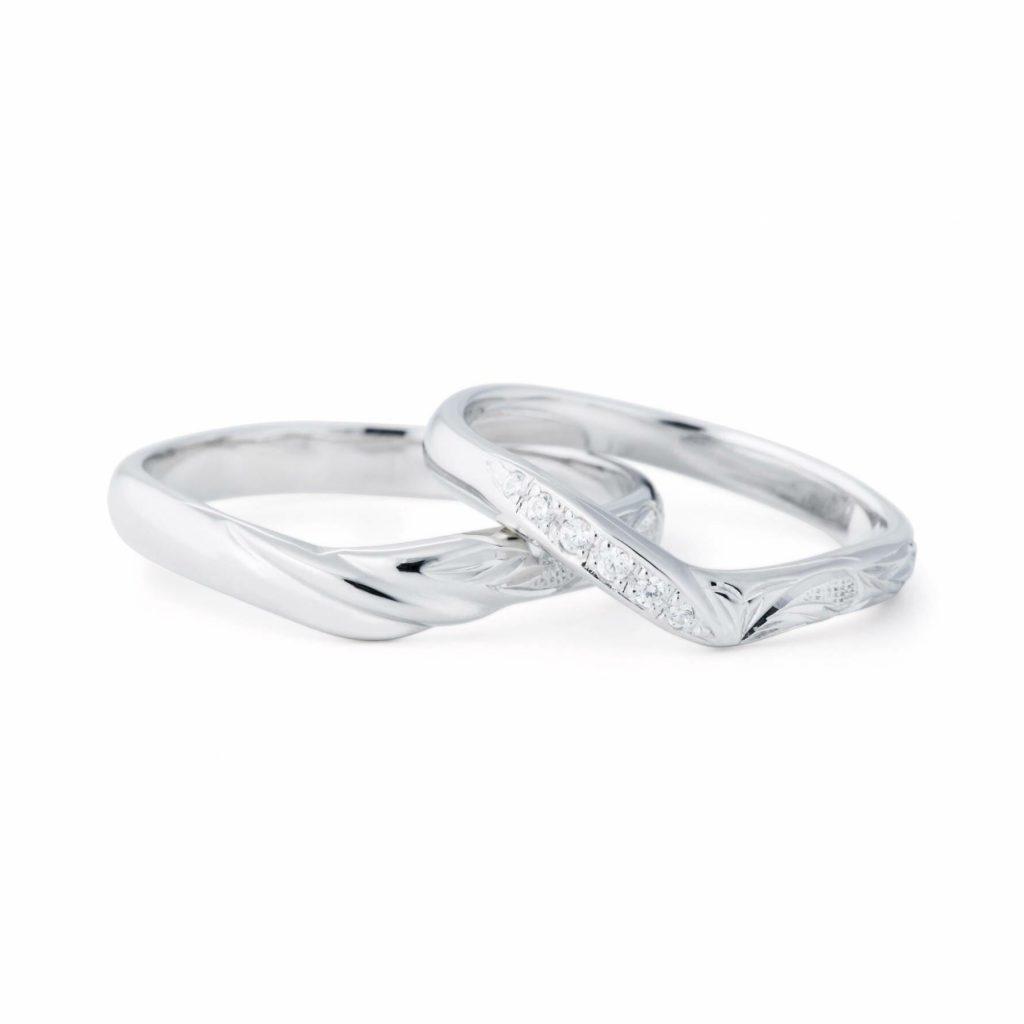 プライベートビーチのご結婚指輪をお作り頂きました!