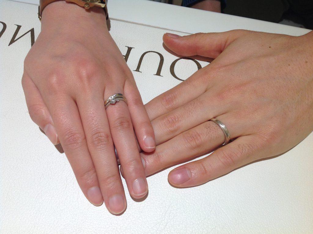 杢目金屋のご婚約指輪とご結婚指輪をお作り頂きました!