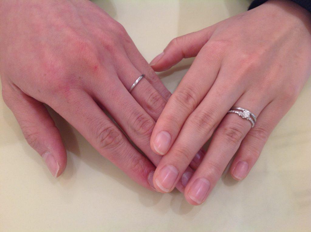 アーカーのご婚約指輪とご結婚指輪をお作り頂きました!