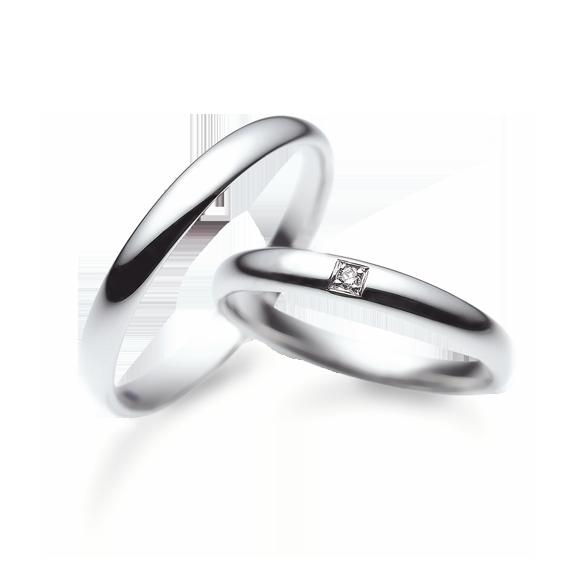 サムシングブルーのご結婚指輪をお作り頂きました!